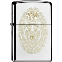Zippo briquet american 60.000.528 native wolve, spring 2015 black ice