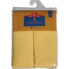 Top Budget, Draps housse 90x190 jaune, le lot de 2