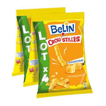 Belin croustilles emmental lot x4 560g