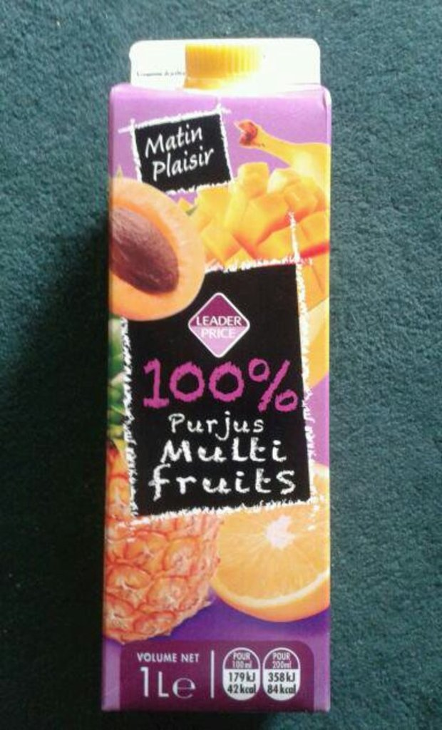 100% Pur jus multi fruits, Matin Plaisir 1l
