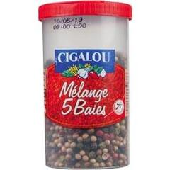 Cigalou, Melange de 5 baies, le pot de 60g