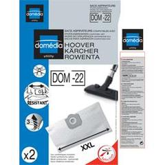Sacs aspirateurs DOM-22 XXL compatibles Hoover, Karcher, Rowenta, le lot de 4 sacs synthetiques resistants