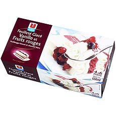 Feuillete glace vanille fruits rouges U, 650ml