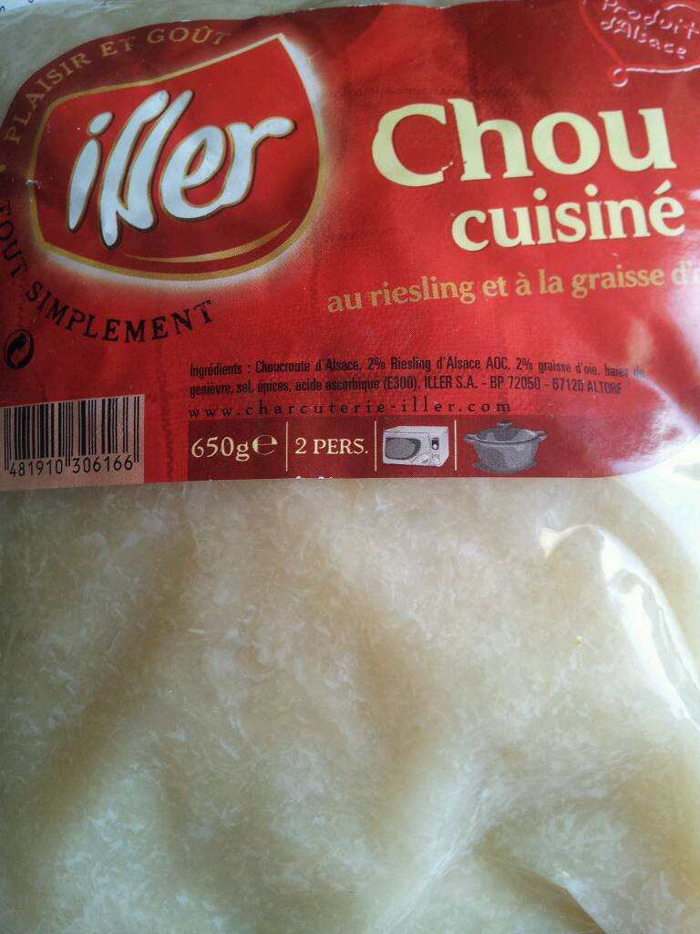 Chou cuisiné au riesling ILLER, 650g