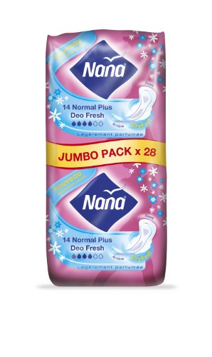 Nana serviettes ultra normal deo fresh jumbo pack change x28