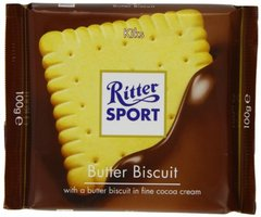 Ritter Sport Milk Chocolate (Butter Biscuit Bar) - 3.5oz [4 units] (4000417214003)