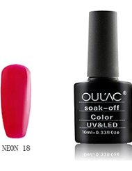 oulac Neon Vernis à ongles gel UV/LED Nombre 18, 10 ml