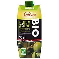 Huile d'olive vierge extra bio caractere SOLEOU, 50cl