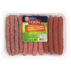 Chipos merguez herbes et nature Origine France 660g