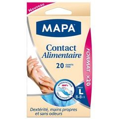Mapa gants contact alimentaire x20 taille L