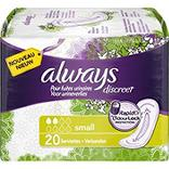 Serviettes incontinence taille small ALWAYS, paquet de 20