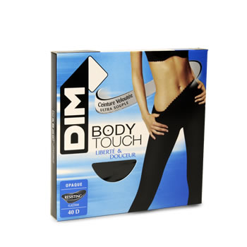 Collant opaque Body Touch DIM, taille 2, noir