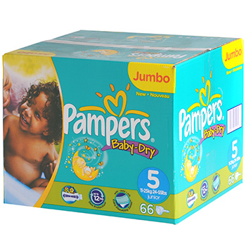 Couches Pampers Baby Dry T5 x66 Jumbo