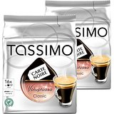 Tassimo Carte Noire Cafe Long Classic / Voluptuoso, Rainforest Alliance Vérifié, Lot de 2, 2 x 16 T-Discs