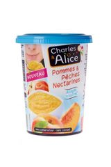 Charles & Alice, Specialite pommes, peches & nectarines allegee en sucres, le pot de 535 g