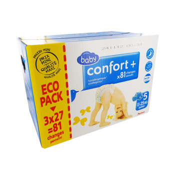 Auchan Baby change confort + family pack 11-25kg x81 taille 5