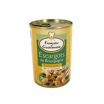 Escargots de bourgogne de belle grosseur la francaise de gastronomie 5 douzaines boite de 230g - Cuisiner les escargots de bourgogne ...