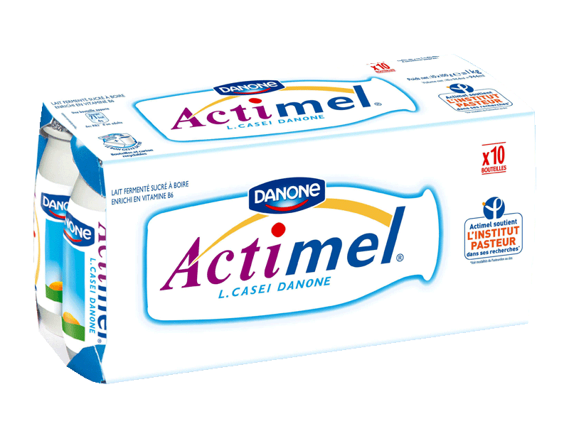 Actimel Danone nature Sucre 10x100g