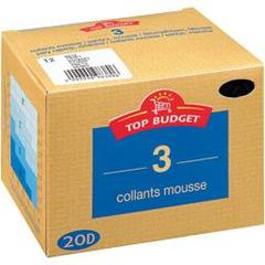 Top budget Collants mousse - 20D - daim T2 Le lot de 3