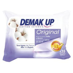 Demak'up, Lingettes original tous types de peaux, le paquet de 35