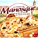 Pizza de manosque, Pizza tomate mozzarella, la boite de 400 gr