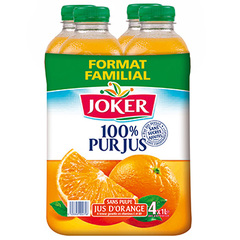 Jus d'orange Joker 100% Pur jus Sans pulpe 4x1l