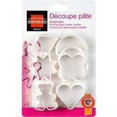 Domedia, Decoupe pate, les 6 emporte-pieces