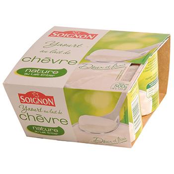 Yaourt nature soignon au lait de chevre 4x125g tous les - Yaourt maison lait de chevre ...