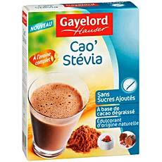 Poudre cacaotee pour boisson instannee Cao'Stevia GAYELORD HAUSER, 200g