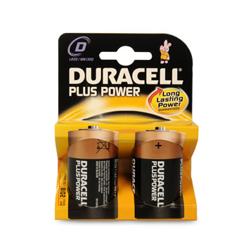 PILE DURACELL LR20 D PLUS POWER X2