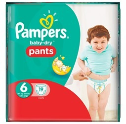 PAMPERS : Baby Dry Pants - Culottes T6 Extra Large + 16 kg