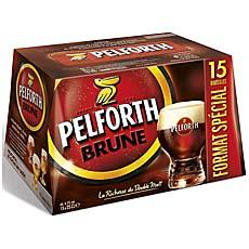 Biere brune Pelforth 6,5° pack 15x25cl