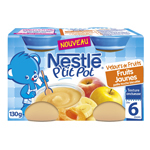 P'tit Pot Velours de Fruits jaunes, touche biscuit des 6M