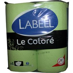 labell papier toilette vert le color le paquet de 4 rouleaux tous les produits papier. Black Bedroom Furniture Sets. Home Design Ideas