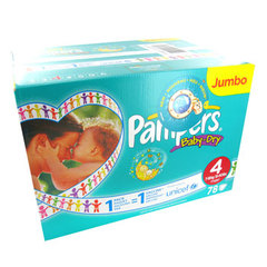 Pampers baby dry jumbo maxi 7/18kg change x78 taille 4