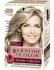 Kératine Color Coloration Permanente 9.1 Blond Clair Cendré 60 ml