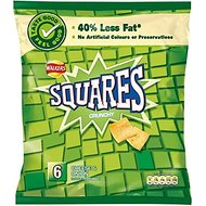 Walkers Squares - Cheese & Onion (6x25g)