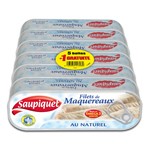 Saupiquet filets maquereaux naturel 5x169g