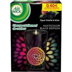 Bougie multicolor Air Wick Black edition figue x1