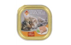 Barquette volaille pour chat 100g