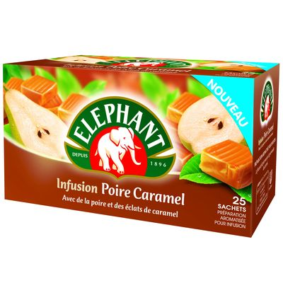 Infusion parfumee poire caramel Elephant x25 sts 40g