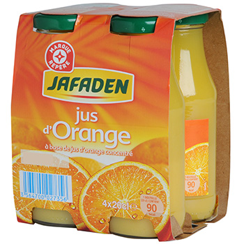 Jus orange Jafaden Briquelttes 4x20cl