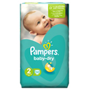 Pampers baby dry geant 3/6kg x58 taille2