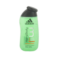 Hair & Body 3 - Gel douche & shampooing active start, le flacon de 250ml