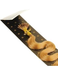 Just Beautiful Hair and Cosmetics Extensions de cheveux naturels 40 cm 0,5 g Mèches d'extensions remy Micro/I...