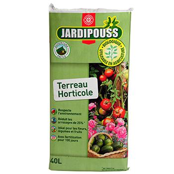 terreau jardipouss horticole 40l tous les produits