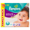 Pampers active fit family 2x39 taille 4