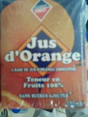Jus d'orange teneur en fruits 100% 6x20cl