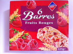 6 Barres fruits rouges 126g