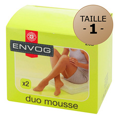 Lot de 2 collants Envog Mousse taille 1 beige moyen